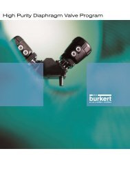 High Purity Diaphragm Valve Program - Bürkert Fluid Control Systems