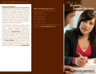 Disability Support Services brochure - Campus Life - Adelphi ...
