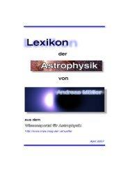 Lexikon der Astrophysik C - Wissenschaft Online