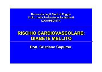 diabete mellito - Medicina e chirurgia - Università degli Studi di Foggia