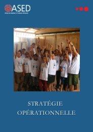 Stratégie opérationnelle - ASED