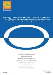 Energy Efficient Motor Driven Systems - Copper Development ...