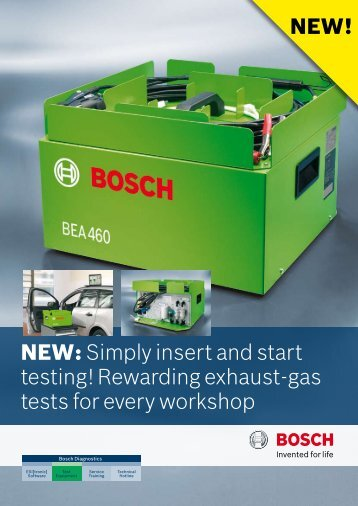 NEW: Simply insert and start testing! Rewarding exhaust-gas tests ...