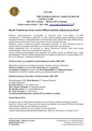 Piirikuvernöörin kirje 7/2007-2008 - Suomen Lions-liitto ry