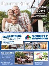 die Dimension in Speyer! - Schultz Bauzentrum