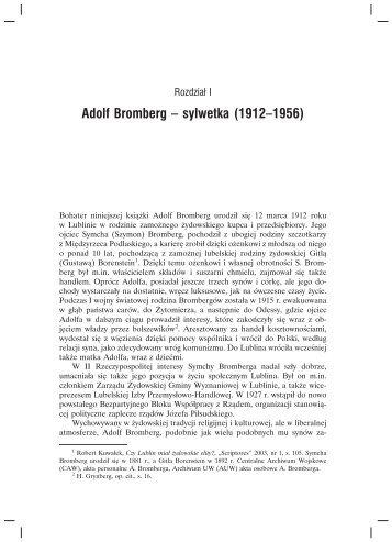 Adolf Bromberg – sylwetka (1912–1956) - Teologia Polityczna
