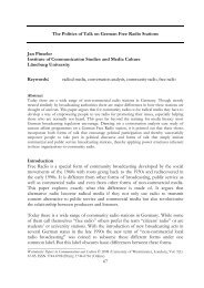 The Politics of Talk on German Free Radio Stations - Jan Pinseler
