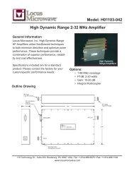 Model: H01103-042 High Dynamic Range 2-32 MHz Amplifier - Codan