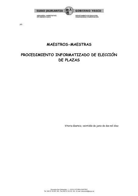 maestros-maestras procedimiento informatizado de ... - FETE UGT