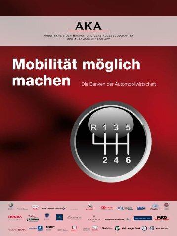Mobilität möglich - Arbeitskreis der Autobanken