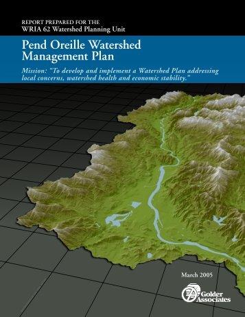 Pend Oreille Watershed Management Plan - Washington State ...