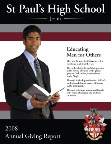 2008 Annual Giving Report - St Paul's High School