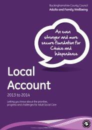 Local Account 2013/14 - Buckinghamshire County Council