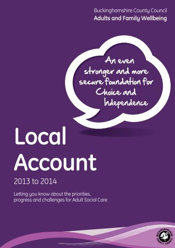 Local Account 2013/14 - Buckinghamshire County Council