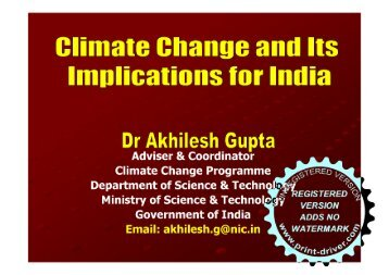 Climate Change and its Implications for India - UP Academy