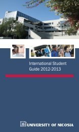 International Student Guide 2012-2013 - University of Nicosia