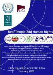 """Deaf People and Human Rights"" report - Human Rights Commission"
