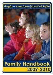 Family Handbook - The Anglo-American School of Sofia