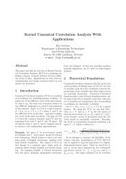 Kernel Canonical Correlation Analysis With Applications - ailab - IJS