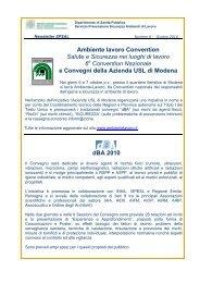 Ambiente lavoro Convention - Azienda USL di Modena