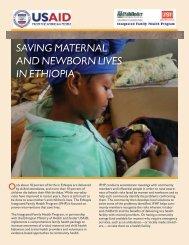 Saving Maternal and Newborn Lives in Ethiopia (.pdf) - Pathfinder ...