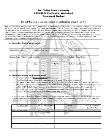 verification worksheet for dependent students free worksheets library download and print. Black Bedroom Furniture Sets. Home Design Ideas