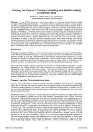 Clothing the Emperor?: Transport Modelling and Decision-Making in ...