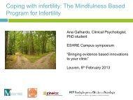 The Mindfulness Based Program for Infertility - eshre