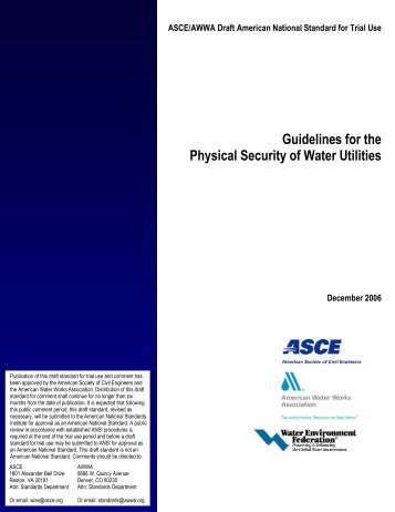 Guidelines for the Physical Security of Water Utilities - Louisiana ...