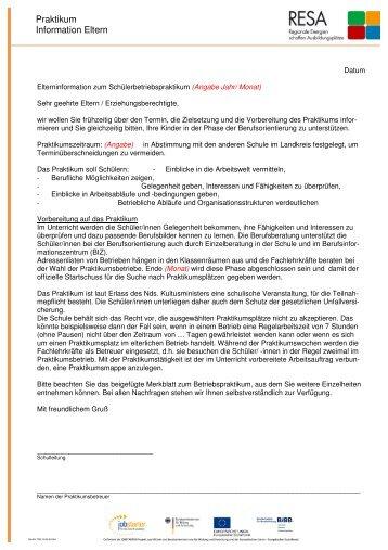 Elterninformation (87 KB) - RESA