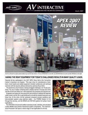 apex 2007 review apex 2007 review - Air-Vac