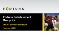 Czech lottery market in 2012 - Fortuna Group