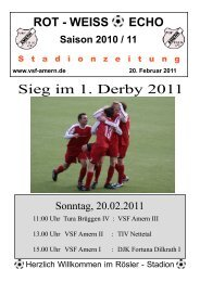 ROT - WEISS ECHO Saison 2010 / 11 S tadionzeitung - VSF Amern