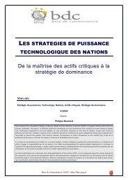 Les stratégies de puissance technologiques des nations - Base de ...