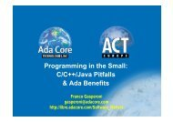 Programming in the Small: C/C++/Java Pitfalls & Ada Benefits - Libre