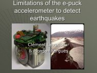 Limitations of the e-puck accelerometer to detect earthquakes - EPFL