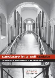 Sanctuary in a Cell Update - Law Centre NI