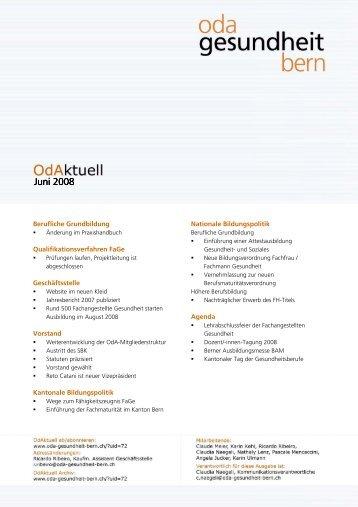 Juni 2008 Juni 2008 - OdA Gesundheit Bern