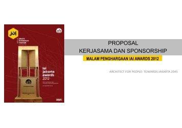 PROPOSAL SPONSORSHIP Malam penghargaan IAI ... - (IAI) Jakarta