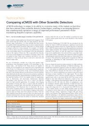 Technical Note Comparing sCMOS with Other Scientific Detectors
