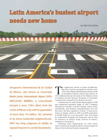 Latin America's busiest airport needs new home - Ken Donohue