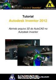 Abrindo arquivo 3D do AutoCAD no Autodesk Inventor