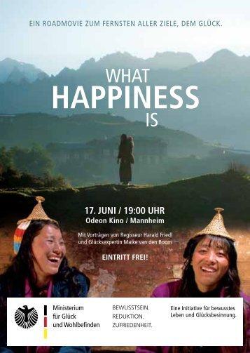 happiness - Ministerium für Glück und Wohlbefinden