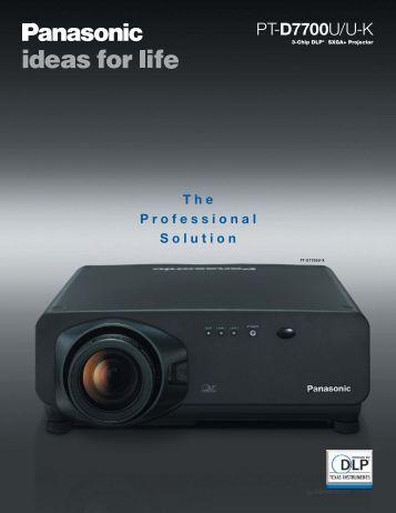 PT-D7700U Brochure
