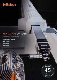 Läs mer om paket till Crysta-Apex S - Mitutoyo Scandinavia AB