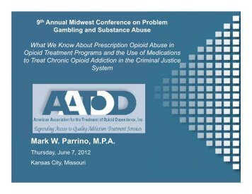 What We Know About Prescription Opioid Abuse - 1-888-betsoff