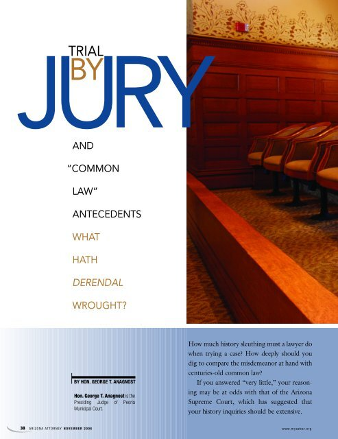 """AND """"COMMON LAW"""" ANTECEDENTS WHAT HATH ... - Lawyers"""