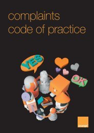 complaints code of practice - Orange