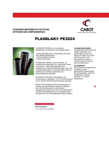 PLASBLAK® PE2824 - Cabot Corporation