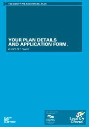YOUR PLAN DETAILS AND APPLICATION FORM. - Legal & General